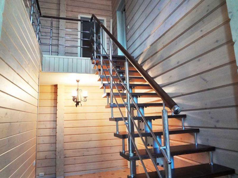 Лестницы деревянные и на металлическом каркасе