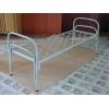 Металлические одноярусные кровати для больниц, кровати для гостиниц, кровати для санаториев, кровати оптом от производителя.
